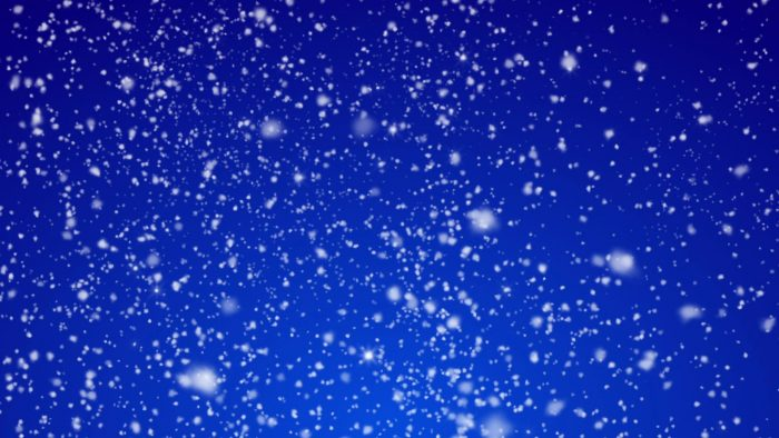 'Glittering Snow / Blue Background' - Snow And Christmas Motion Background Loop_SampleStill