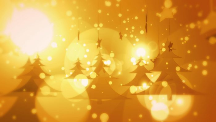 'Golden Christmas' - Snow And Christmas Motion Background Loop_SampleStill