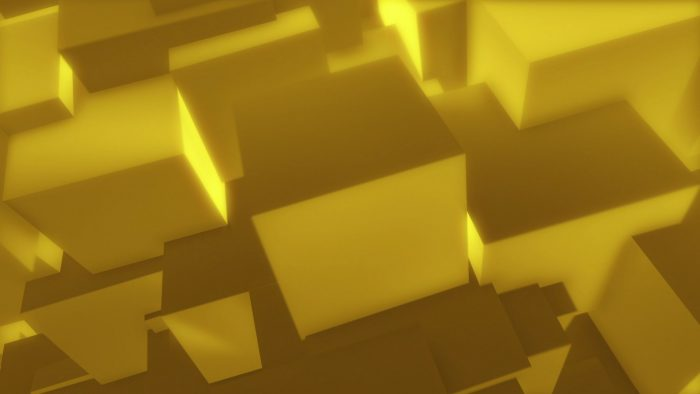 'Golden Cubes 1' - Glamorous Geometrical 3D Motion Background Loop_SampleStill
