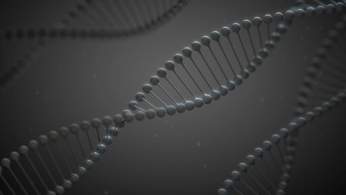 'GrayDNA' - Stylized DNA Spirals Motion Background Loop_SampleStill