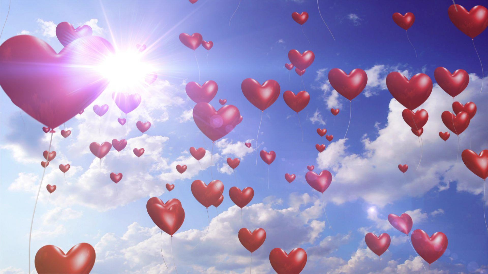 desktop wallpaper valentine heart balloons - photo #10