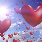 'Heart Balloons' - Romantic And Wedding Motion Background Loop_SampleStill