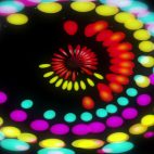 'Lucy' - Colorful Dots Motion Background Loop_SampleStill