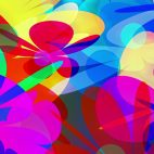 'PowerFlowers' - Colorful Abstract Blossoms Motion Background Loop_Sample2