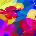 'PowerFlowers' - Colorful Abstract Blossoms Motion Background Loop_Sample3