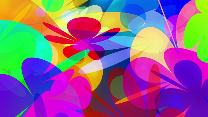 'PowerFlowers' - Colorful Abstract Blossoms Motion Background Loop_SampleStill