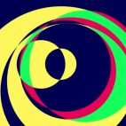 'Psychedelic Circles 1' - Colorful Graphical Motion Background Loop_Sample2