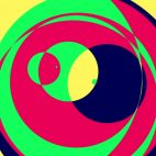 'Psychedelic Circles 1' - Colorful Graphical Motion Background Loop_Sample3