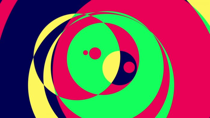 'Psychedelic Circles 1' - Colorful Graphical Motion Background Loop_SampleStill