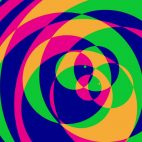 'Psychedelic Circles 2' - Colorful Graphical Motion Background Loop_SampleStill