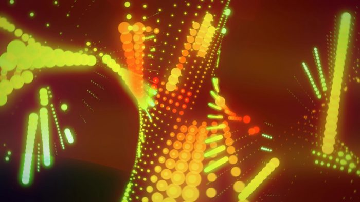 'Ravelings' - Moving Dots Motion Background Loop_SampleStill
