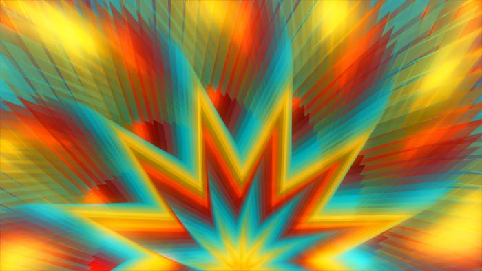 'Stardom' - Multicolored Abstract Stars Motion Background Loop-SampleStill