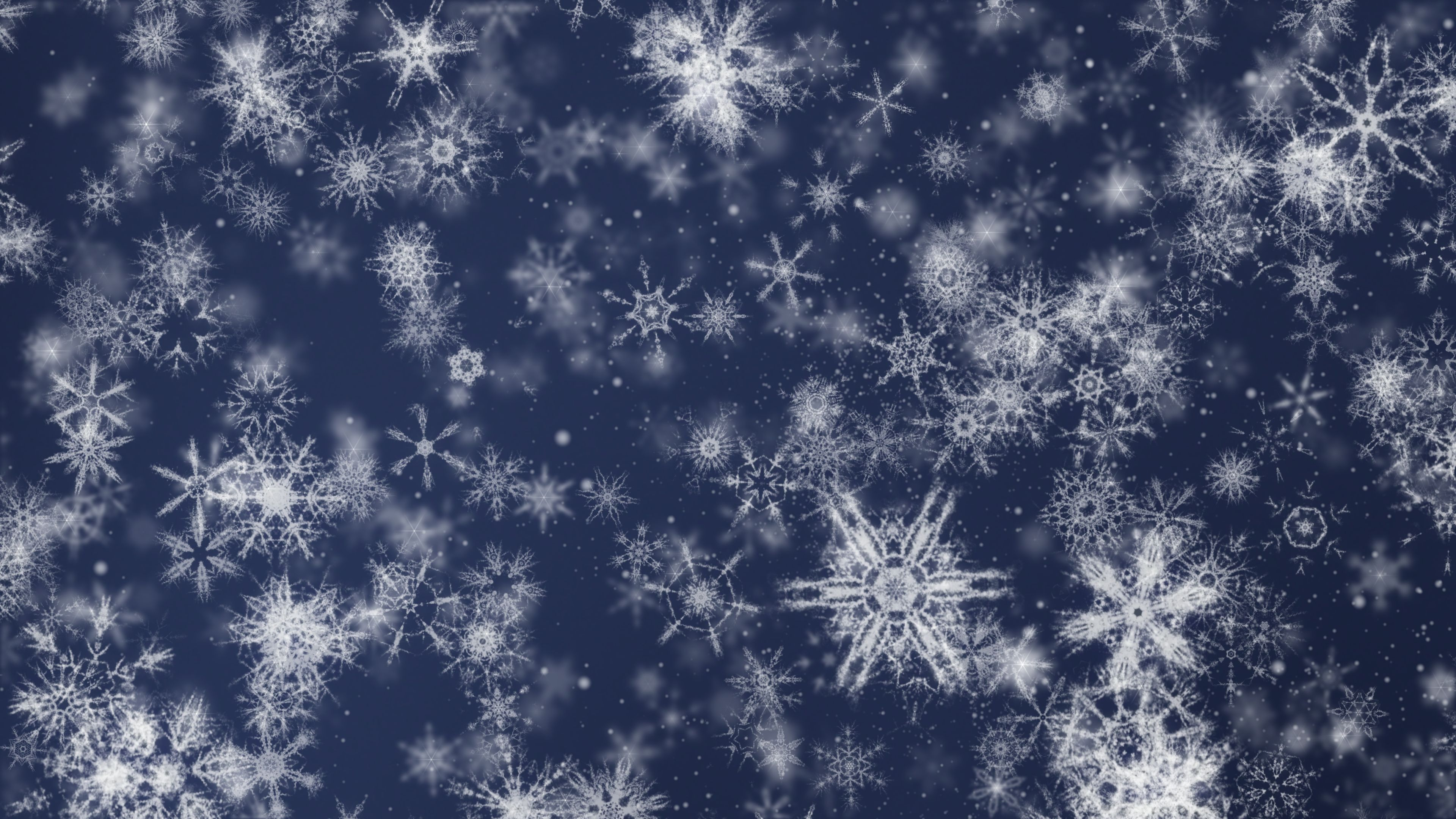 'Pretty Snow 3' - Detailed Ornamental Snow Motion Background Loop-SampleStill