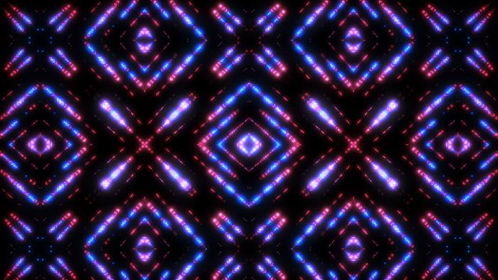 'Glittern' - Pulsating Kaleidoscopic Motion Background Loop-SampleStill