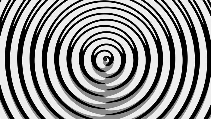 'GrayTrip' - Black And White Psychedelic Pattern Motion Background Loop-Sample3