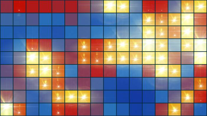 'Mosaic Light Show Multi-Colored' - Colorful Pixel Grid Motion Background Loop-Sample3